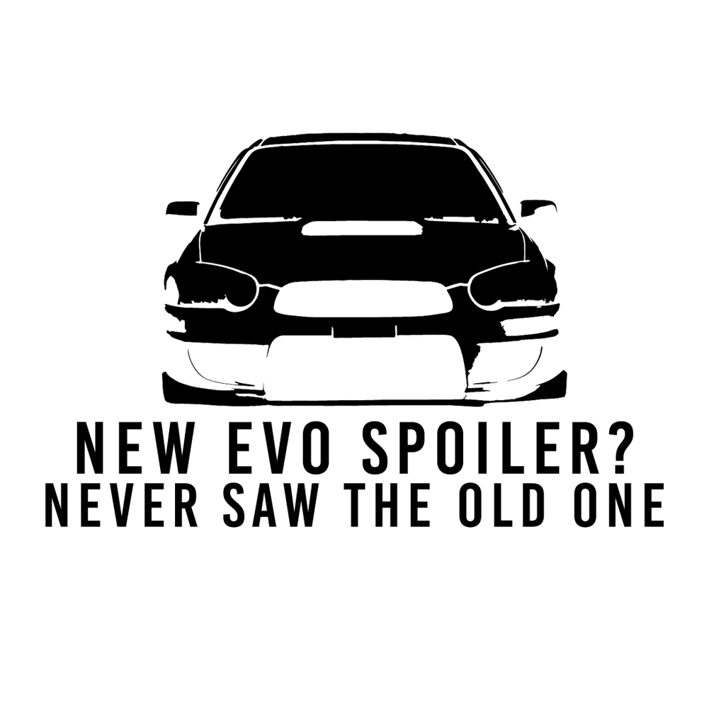Never saw the new evo spoiler funny jdm subaru wrx sti vinyl car decal