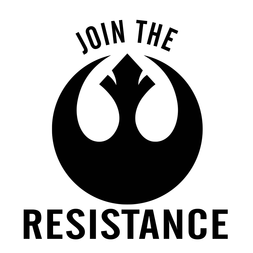 Join The Resistance Vinyl Sticker Car Decal